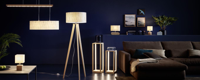 LED Stoff Steh Leuchte Wohn Zimmer Beistell Lampe Lese Lampe Tisch Beleuchtung
