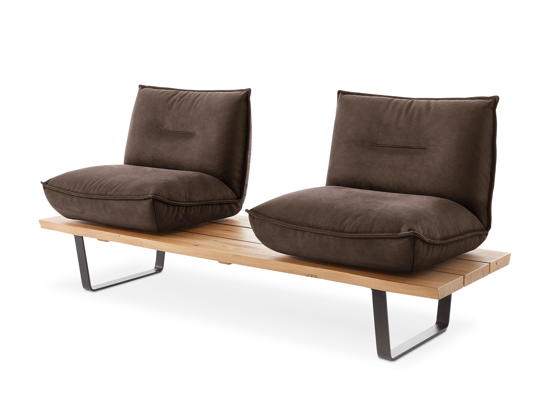 einzelbank floro eiche schwarz dunkelbraun. Black Bedroom Furniture Sets. Home Design Ideas