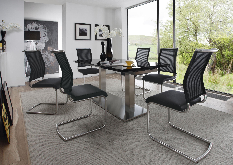 stuhl divo schwarz edelstahl. Black Bedroom Furniture Sets. Home Design Ideas