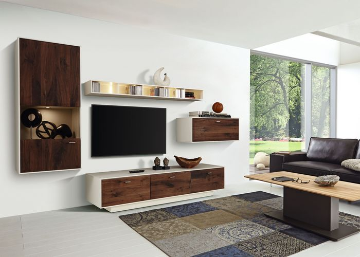 wohnwand cava braun. Black Bedroom Furniture Sets. Home Design Ideas