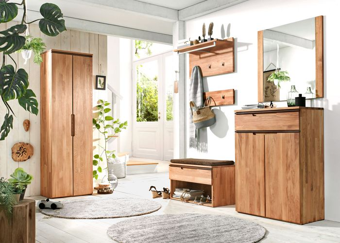 hakenleiste purea eiche massiv naturbelassen ge lt. Black Bedroom Furniture Sets. Home Design Ideas