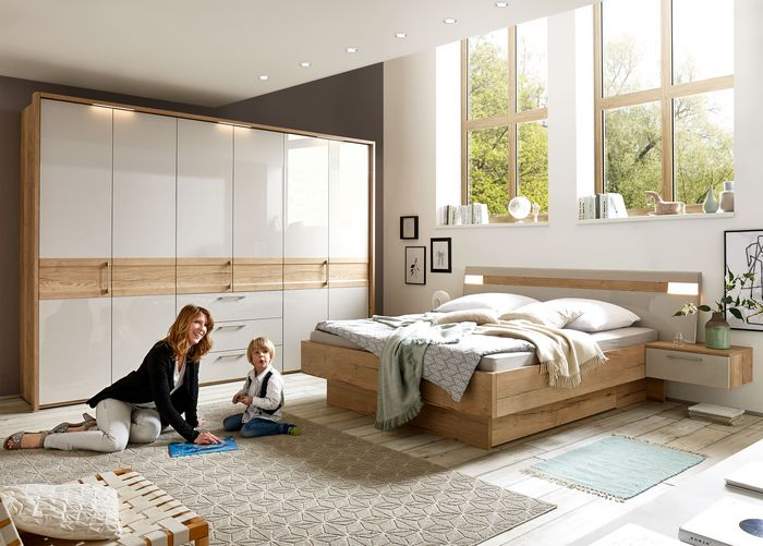 liegenbett nazza grau hochglanz eiche silea. Black Bedroom Furniture Sets. Home Design Ideas