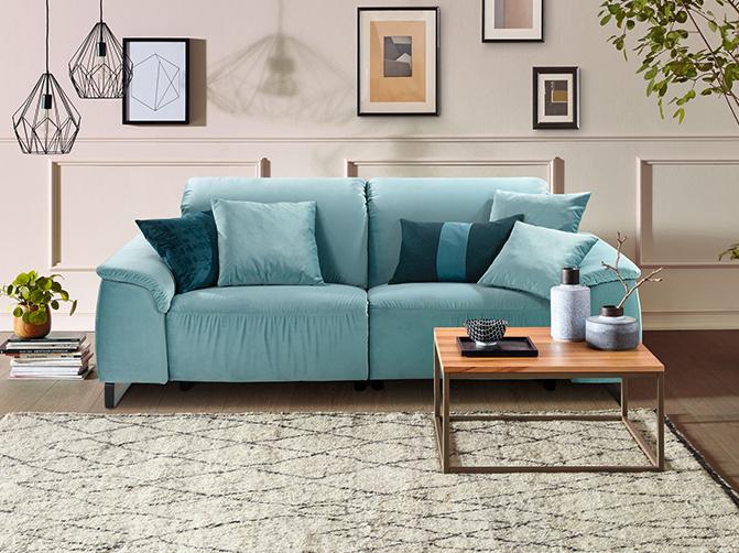 couch sofa zweisitzer hellblau