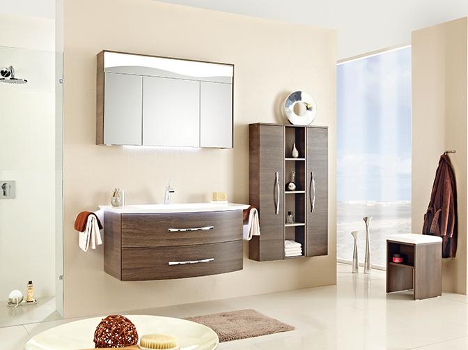 Badezimmer Holzoptik Badezimmermöbel Waschtisch