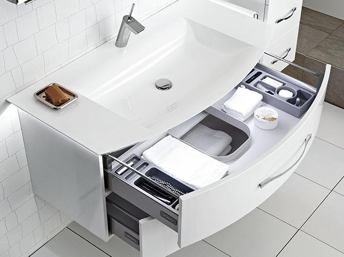 Waschtischunterschrank weiß